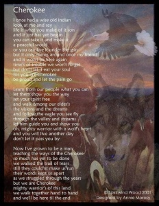 Cherokee Meditative Poem